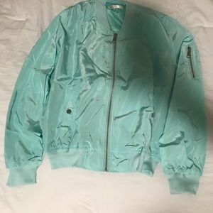 NWT Teal light weight bomber jacket
